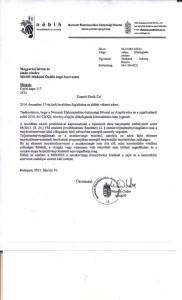 Nébih levél FCI vizsgákról